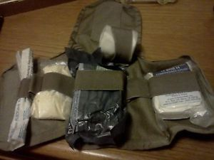 US Army Military Issue First Aid Kit IFAK Medic Gear Pack Wound Dressing Gauze
