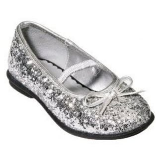 Circo Toddler Girls Silver Glitter Dress Shoes Melody Ballet Flats