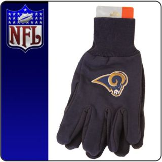 New Licensed NFL Football St Louis Rams Gloves