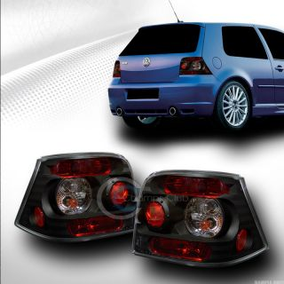 Euro Blk Sport Style altezza Tail Lights Lamps Pair KS 1999 2005 VW Golf GTI MK4
