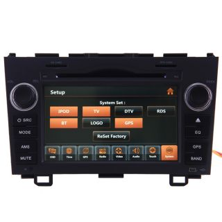 2007 10 Honda CRV Car GPS Navigation Radio TV Bluetooth USB  iPod DVD Player