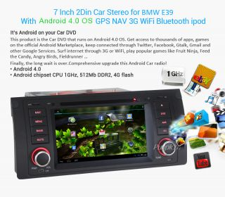 New Android 4 0 BMW 5 x5 E39 E53 M5 Car DVD Player GPS Navigation Radio Stereo