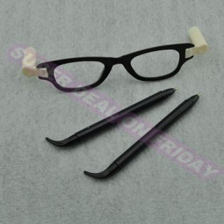 Novelty Creative Ballpoint Pen Glasses Shape Student School Writing Equipment