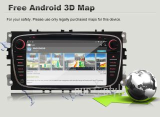 Android 4 1 Dual Core A9 CPU Car DVD GPS Nav Stereo Radio for Ford Focus Mondeo
