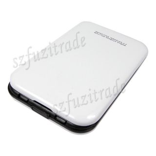 "New White 2 5"" SATA HD HDD Hard Drive Disk USB 2 0 Case Cover External Enclosure"