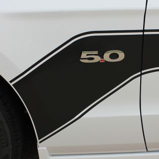 2013 2014 Ford Mustang Center Hood Hockey Body Stripes 3M Vinyl Graphic Decals
