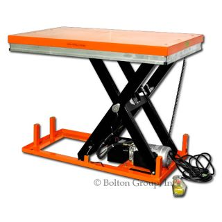 Bolton Tools New Stationary Powered Hydraulic Lift Table 2200 lb ET1001