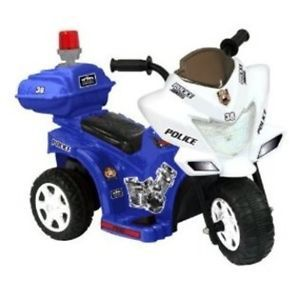 Battery Powered Ride on Kids Motorcycle Power Wheel Car Police Bike Tricycle Toy