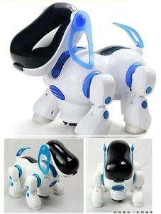 Electric Robotic Dogs Electronic Pet Dog Toy Music Lights Shine Toy for Kids