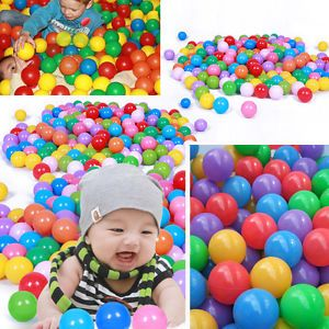 30pcs Soft Plastic Pit Ball 7 Bright Color Play Tent Tunnel Toy Kids Pets