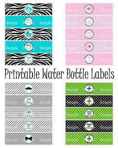 DIY Printable Boy Girl Baby Shower Water Bottle Labels You Print Digital File