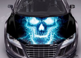 Hood Wrap Full Color Print Vinyl Decal Fit Any Car Dragon vs Unicorn 168