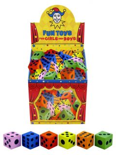 Large Foam Dice Childrens Kids Educational Toy Teaching Playing Games Party Bag