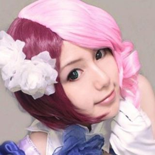 Animation Tekken Alisa Red Mix Pink Short Cosplay Prop Party Costume Wig Wigs