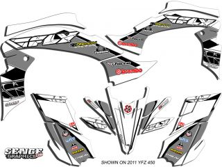 Raptor 660 RAPTOR660 Yamaha Graphics Kit Deco Stickers ATV Quad 4 Fly Decals