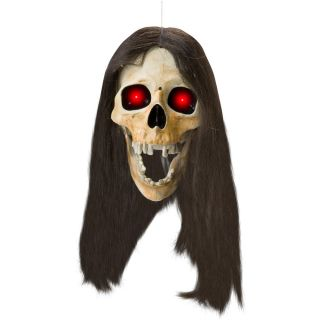 Dropping Head Skull with Hair Animated Prop