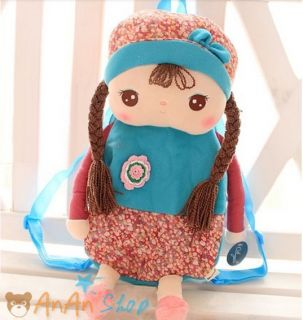 NEW11 Styles Cute Kids Backpack Stuffed Doll School Bag Soft Toy Gift for Baby