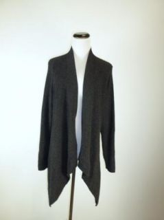 Excellent Eileen Fisher Charcoal Gray Black Cotton Linen Cardigan Sweater Coat