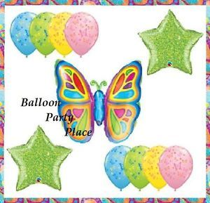 Butterfly Balloons 1st 2nd 3rd Birthday Party Baby Shower Decorations Lime New