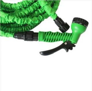 75 ft Green Expandable Garden Water Hose Flexible Pocket Hose with Nozzle Set