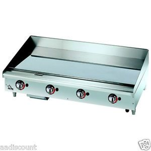 "New Star Max 48"" Griddle Grill Thermostatic Control Gas 1"" Chrome Plate 648TCHSF"