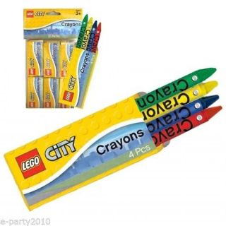 12 Mini Lego City Crayon Packs Birthday Party Supplies Favors Coloring Toys