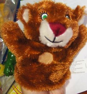 Learning Adventures Mini Hand Puppet Toy Plush Teddy Bear 2010 Kids Theater