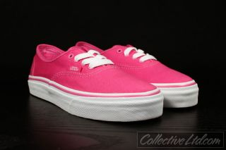 Vans Kid's Youth Authentic Canvas Carmine Rose Pink 13