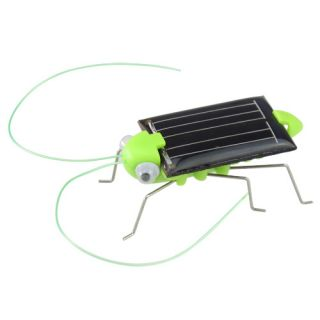 Solar Energy Powered Toy Grasshopper Green Science