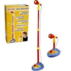 Bontempi Stage Microphone Toy Kids Fun Game Musical Pretend Play Children Gift