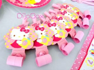 Sanrio Hello Kitty 6pcs Birthday x'mas Wedding Party Supplies BLOWOUT Blowouts