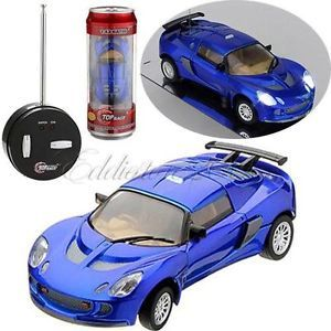 27MHz Mini Can RC Radio Remote Control Micro Racing Car Toy Kids Gift Blue QH