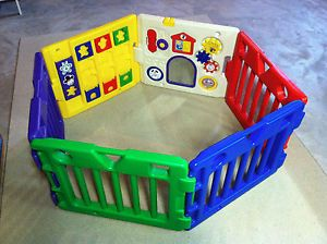 Today's Kids Infant Toddler Playland Gate Corral w Nearly All Toys Original Box
