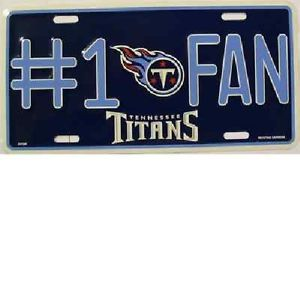 Tennessee Titans 1 Fan License Plate Novelty Signs and Plates LP 698