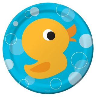 Lil Quack Ducky Dessert Plates Duck Theme Birthday Baby Shower Party Supplies