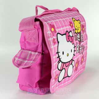 Sanrio Hello Kitty with Teddy Pink Large Messenger Bag Backpack Girls Kids