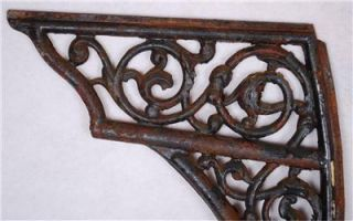 Antique Cast Iron Pair of Chair Hinged Table Legs Dated 1881 Buffalo Hardware Co