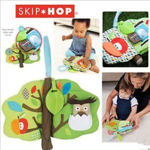Infant Baby Kid's Skip Hop Treetop Friends Soft Activity Teether Cloth Book Toys