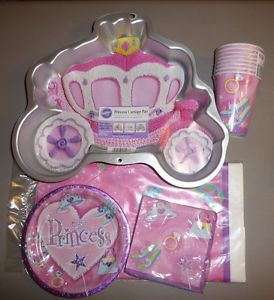 Wilton Princess Carriage Theme Cake Pan Birthday Party Supplies Lot of 5