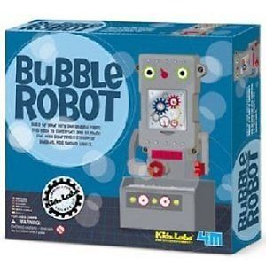 Bubble Robot Bubble Blowing Bot Kit Educational Kids Childrens Toy Blower