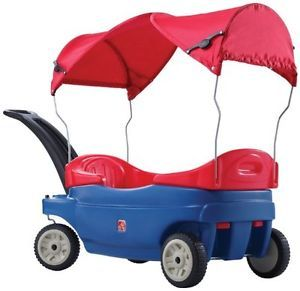 New Kids Wagon Canopy Rider Removable Seat Childrens Push Pull Ride on Toy