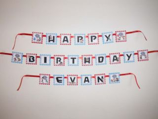 Paw Patrol Birthday Banner Party Favor Personalized Small