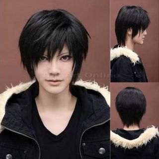 Men's Beautiful Male Black Short Straight Hair Wig Wigs Cosplay Party Hot Sale
