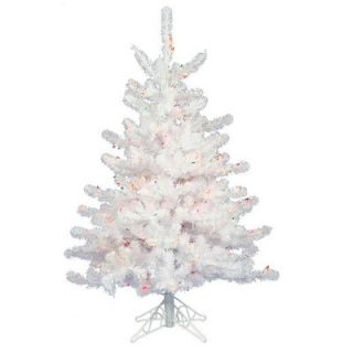 Vickerman Crystal White Spruce 4.5 Artificial Christmas Tree with 180 LED White Lights with Stand