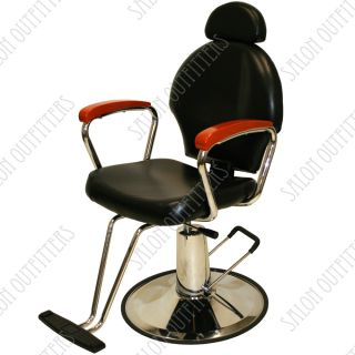 All Purpose Hydraulic Reclining Barber Chair Honey Wood Shampoo Salon Equipment