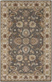 Plush Wool Classic Traditional Area Floor Rug Gray Brown Blue 4x6 5x8 8x10