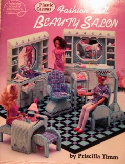 Plastic Canvas Pattern Teen Fashion Doll Beauty Salon Hairdresser