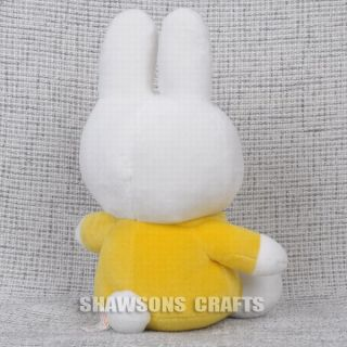 "Miffy Bunny 12"" Plush Stuffed Soft Rabbit Toy in Yellow"
