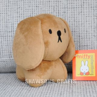 "Dick Bruna Miffy Friends Plush Stuffed Toy 6"" Dog Soft Figure"