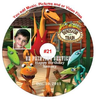 Dinosaur Train Birthday Invitation TK U Cards Stickers Candy Wrapper PRSZ CD DVD